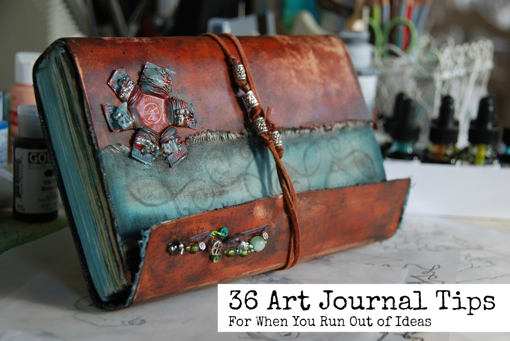 36 art journal tips for when you run out of ideas art for Journal painting ideas