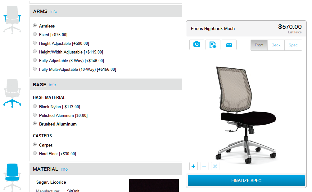 If You Choose To Design Your Own Chair, Youu0027ll Be Given Several Different  Options. Donu0027t Feel Overwhelmed Though As All Options Are Categorized  (back, ...